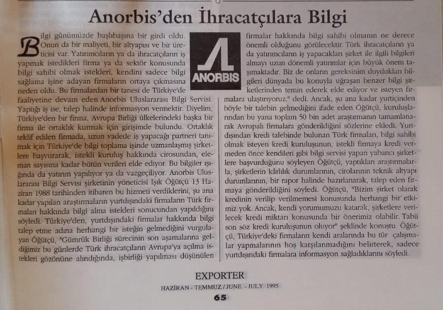 Exporter Dergisi Temmuz 1995