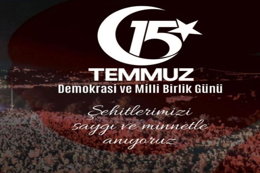 15 Temmuz Demokrasi Ve Milli Beraberlik Günü Kutlu Olsun.